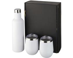 Dárková sada měděných nádob KNOB s vakuovou izolací, 3 ks - bílá