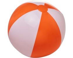 Nafukovací neprůhledný plážový míč GLUED - oranžová / bílá