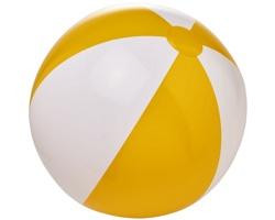 Nafukovací neprůhledný plážový míč GLUED - žlutá / bílá
