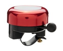 Hliníkový zvonek na kolo LINT - červená