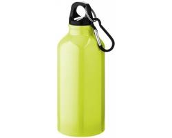 Kovová nápojová láhev CLIMB s karabinou, 350ml - neonově žlutá