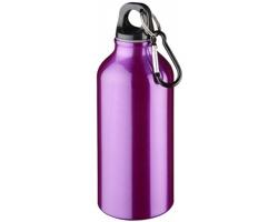 Kovová nápojová láhev CLIMB s karabinou, 350ml - purpurová