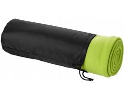 Fleecová deka LATENCY s pouzdrem - jemně zelená