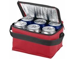 Chladicí taška GRATA, pro 6 plechovek - červená