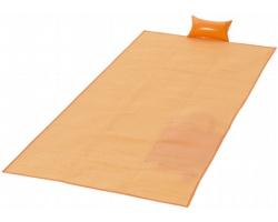 Skládací plážová podložka STAY s nafukovacím polštářkem - oranžová