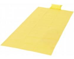 Skládací plážová podložka STAY s nafukovacím polštářkem - žlutá