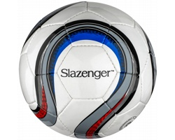 Fotbalový míč Slazenger FOOTBALL EC16 s barevnými detaily - bílá / šedá