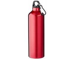 Hliníková láhev na pití WREN s karabinkou, 770 ml - červená