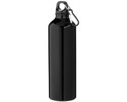 Hliníková láhev na pití WREN s karabinkou, 770 ml - černá