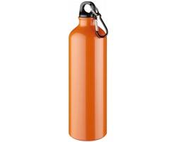 Hliníková láhev na pití WREN s karabinkou, 770 ml - oranžová