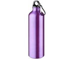Hliníková láhev na pití WREN s karabinkou, 770 ml - purpurová