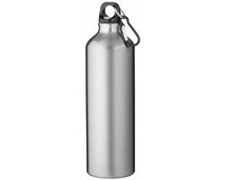 Hliníková láhev na pití WREN s karabinkou, 770 ml - stříbrná