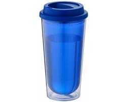 Průhledný termohrnek ANNUL, 470 ml - modrá