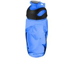 Sportovní láhev na pití s krytkou flip-top SHREW, 500 ml - transparentní modrá