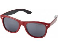Plastové sluneční brýle ROCKET v retro stylu s pouzdrem - červená