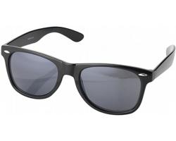 Plastové sluneční brýle ROCKET v retro stylu s pouzdrem - černá