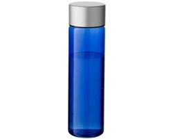 Láhev na pití s pojistkou CALX, 900 ml - transparentní modrá / stříbrná