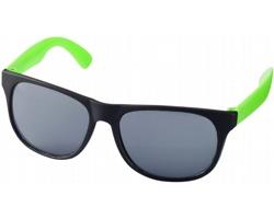 Lehké plastové sluneční brýle BLOND v retro stylu - neonově zelená / černá