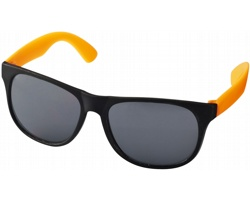 Lehké plastové sluneční brýle BLOND v retro stylu - neonově oranžová / černá