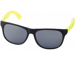 Lehké plastové sluneční brýle BLOND v retro stylu - neonově žlutá / černá