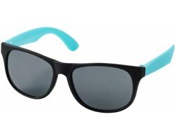 Lehké plastové sluneční brýle BLOND v retro stylu - tyrkysová / černá
