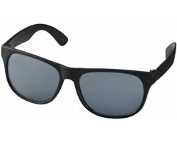 Lehké plastové sluneční brýle BLOND v retro stylu - černá