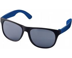 Lehké plastové sluneční brýle BLOND v retro stylu - modrá / černá