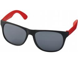 Lehké plastové sluneční brýle BLOND v retro stylu - červená / černá