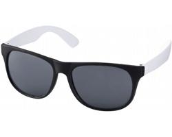 Lehké plastové sluneční brýle BLOND v retro stylu - bílá / černá