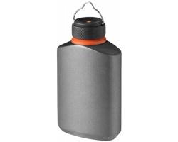 Vodotěsná kapesní láhev na pití CANYON, 500 ml - šedá / černá