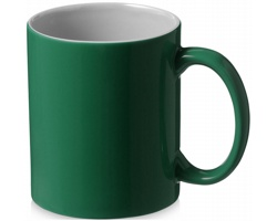 Keramický hrnek FAME, 330 ml - zelená / bílá