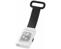 Venkovní odrazka RAISE s LED svítilnou - černá / bílá