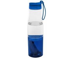 Sportovní láhev na pití TEETH s úschovnou na cennosti, 475 ml - transparentní / modrá