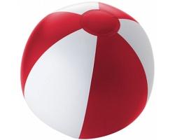 Nafukovací plážový míč PODGE - červená / bílá
