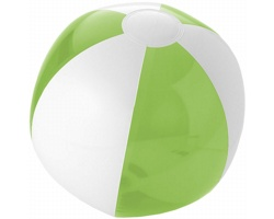 Pevný nafukovací plážový míč MELIC - jemně zelená / bílá