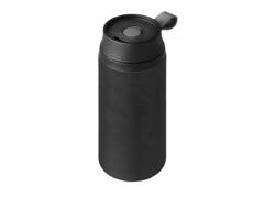 Nerezová vodotěsná termoska FUGGY, 350 ml - černá