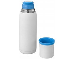 Vakuová termoska SPLIT 500 ml se šálkem - bílá / modrá
