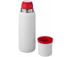 Vakuová termoska SPLIT 500 ml se šálkem - bílá / červená