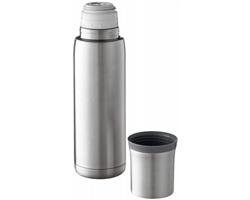 Vakuová termoska SPLIT 500 ml se šálkem - stříbrná