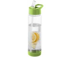 Láhev na pití s infuzérem PASHM, 740 ml - transparentní bílá / jemně zelená