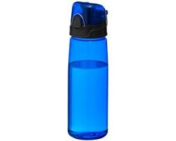 Sportovní láhev na pití s výklopným víčkem WADER, 700 ml - transparentní modrá
