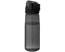 Sportovní láhev na pití s výklopným víčkem WADER, 700 ml - transparentní černá