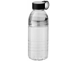 Tritanová sportovní láhev na pití SPEAK se sítkem na ovoce, 600 ml - transparentní / bílá