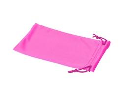 Polyesterový sáček na sluneční brýle INTERNE - neonově růžová