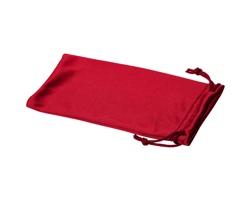 Polyesterový sáček na sluneční brýle INTERNE - červená