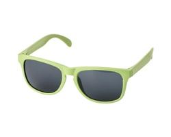 Plastové sluneční brýle z pšeničné slámy STERE - jemně zelená