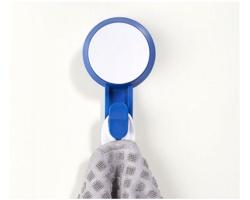 Plastový přísavný háček FONDA, nosnost 2,5 kg - modrá