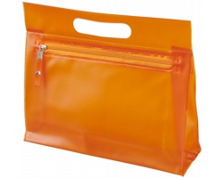 Toaletní taška AVIUM z průhledného PVC - oranžová