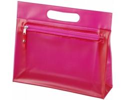 Toaletní taška AVIUM z průhledného PVC - světle fialová