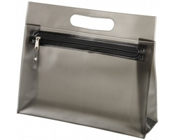 Toaletní taška AVIUM z průhledného PVC - černá